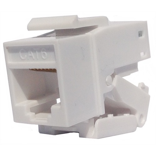Eagle CAT6 Tooless Keystone Jack White RJ45 Insert Connector One Piece 8P8C Modular Connector Network QuickPort 8 Wire Telephone Snap-In Insert Computer Datacom