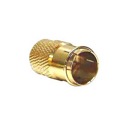 Channel Master 3269 Twist-On Push-On Quick Connect F Coax Plug Gold Plate Connector Adapter Coaxial Cable CM-3269 RG59 Coax Cable Signal Disconnect TV Video Component Connection, Sold as Singles, Part # CM3269