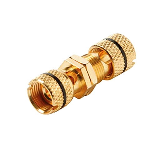 Steren 251-510-10 Binding Post Banana Jack Black Band Connector Gold Plate for Wall Plate Insert Use Keystone QuickPort Audio Component Module, 10 Pack, Part # 251510-10
