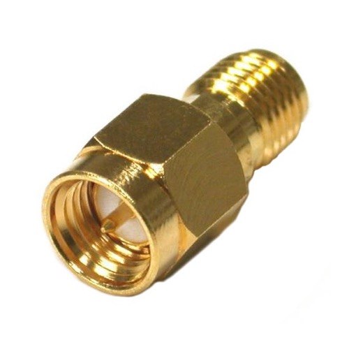 Eagle WF6025 SMA Male to SMA Female Coupling Barrel Gold Adapter Connector Gold Plated Contacts Commercial Grade Adapter Connector SMA Series Component Adapter
