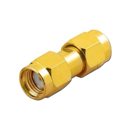 Eagle WF6026 SMA Male to SMA-RP Male Coupling Barrel Gold Adapter Connector Gold Plated Contacts Commercial Grade Adapter Connector SMA Series Component Adapter