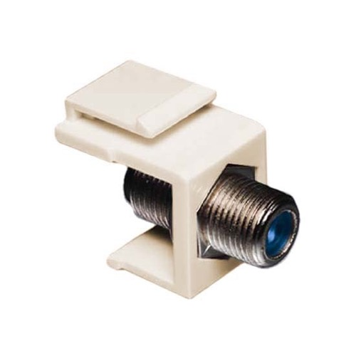 Eagle F to F Keystone Jack Insert 3 GHz Light Almond F81 Connector Female to Female Coaxial Connector  RG59 RG6 High Frequency F-81 Jack Snap-In