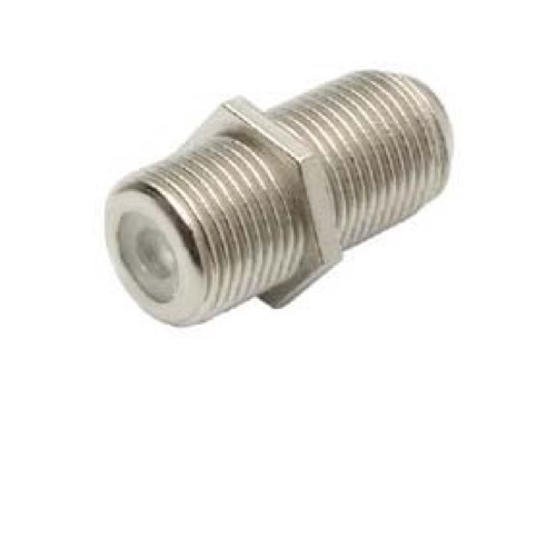 F-81 F-Type Video Coupler Female to Female Jack Splice Connector Barrel 1 Pack Splicer Coax Adapter Connector Cable Barrel Jointer Coupling Audio Video Coaxial Cable Splice Plug Extension, Part # FF-10-B