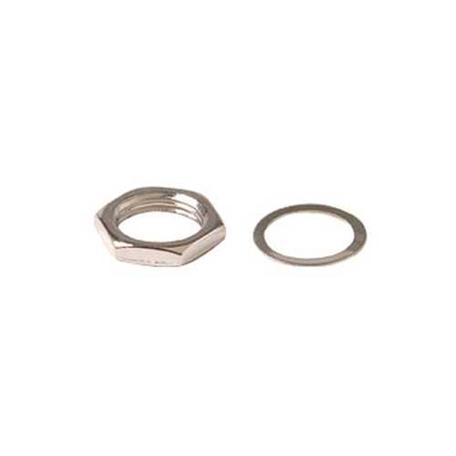 "Steren 200-056-100 F-81 Hex Nut Washer 100 Pack 3/8"" Chassis Barrels Standard Set Coax Cable Antenna Audio Video Plug"