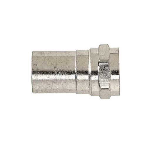 Steren 200-034 RG6 Radial Crimp Connector Plenum Grade F Coaxial Commercial Grade TaperSeal F-Connector Radial Crimp Compression RG-6 Connector 1 Pack Single Outdoor
