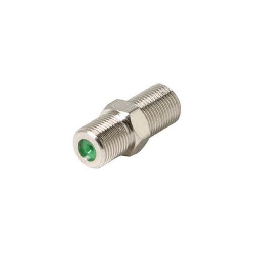Steren 200-059 3 GHz F-81 Splice Coupler Adapter F Connector Female to Female High Frequency Barrel 1 Pack Coaxial Cable Jointer Coupling Audio Video Plug Extension