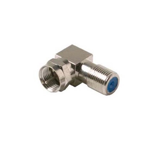 Vanco F-Type Right Angle F-90 Degree 2 GHz Male to Female Adapter RG6 Audio Video Coaxial High Frequency F Coaxial Connector Male to Female Component RF Digital Signal TV Adapter