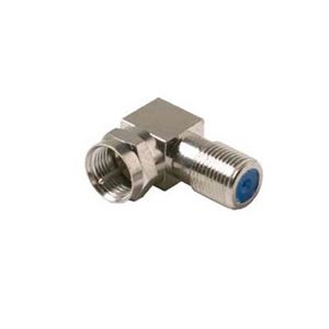 Steren 200-106 Right Angle F Adapter Premium 2.5 GHz Type Connector Male to Female High Frequency 90 Degree Coax F Adapter Connector Component RF Digital Signal TV Adapter, Part # 200106