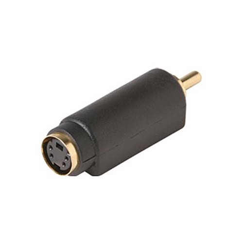 Steren 251-153 S-Video to RCA Adapter RCA M to S-Video F Gold Plated Contacts 1 Pack Stereo Cable Connector Audio Video Tool Less Hook-Up Component Connector, Part # 251153