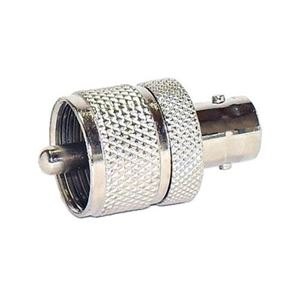 Steren 200-195 BNC Female Jack to UHF Male Plug Adapter Connector UHF Plug to BNC Jack Commercial Grade Nickel Plated with Delrin Insulator TV Antenna Satellite Components Plug, Part # 200195