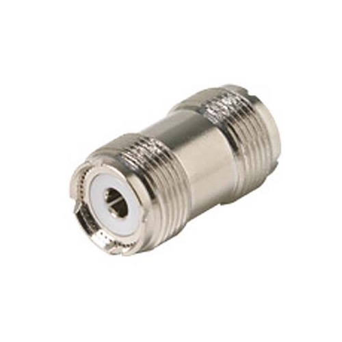 Steren 200-198 UHF Inline Female to Female Coupler Adapter Coaxial Connector Double UHF Female In-Line Jack to Jack Commercial Grade Nickel Plated with Delrin Insulator TV Antenna Satellite Components Plug, Part # 200198