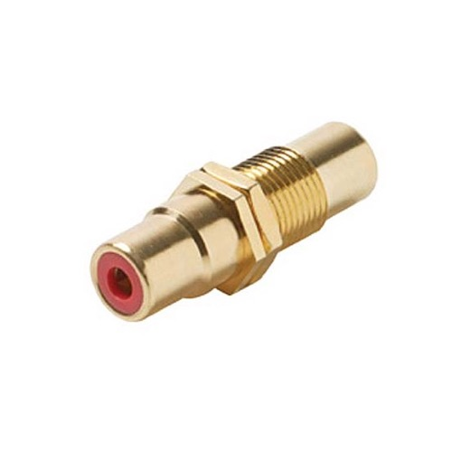 Eagle RCA Female Jack Coupler Panel Mount Red Band Gold Barrel Insert Audio Video Round Adapter Insert Wall Plate RCA to RCA Plug Jack 1 Component Connector