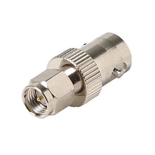 Steren 200-870 BNC Female to SMA Plug Male Plug Adapter Commercial Grade Nickel Plated Brass with Gold Plated Contacts and Teflon Insulator Grade Plug Adapter Connector