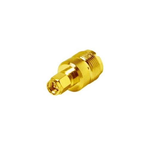 Steren 200-872 SMA Male Plug to UHF Female Jack Adapter Connector RF Gold Plated Brass with Gold Plated Contacts and Teflon Insulator Commercial Grade Connector SMA Series Plug Adapter, Part # 200872
