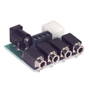 Linear 2184 1 x 4 IR Repeater Emitter Expansion Breakout Block 12 Volt for Compatible Video Distribution Amplifier Systems, 4 Position Expansion Terminal Block, Part # CP2184