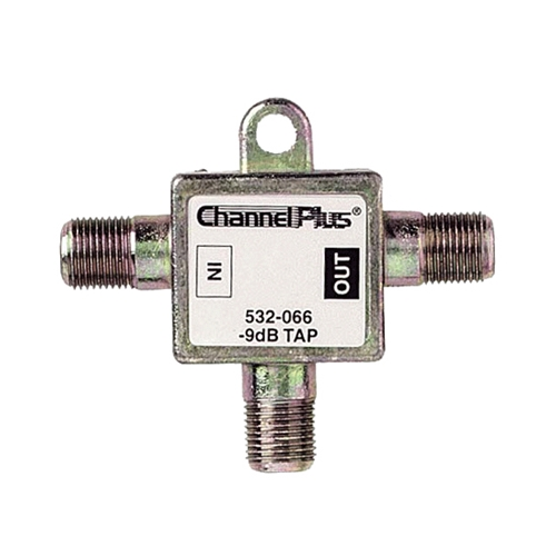 Channel Plus 2509 9 dB Directional Tap 1 GHz Bandwidth Combiner 75 Ohm 10 Pack Signal Bandwidth Combiner 2 Way Splitter with 1dB Minimal Output Loss and 9db High Loss Signal Strength Adapter, Part # 2509