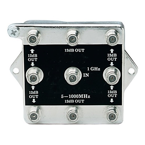 Linear 2538 8-Way BI-Directional Splitter Combiner 1 GHz Video Signal Bi-Directional Coaxial DC Block Coax Cable Splitter UHF / VHF TV Antenna Combiner, 5-1000 MHz, Part # 2538