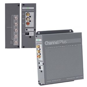Linear CP-3015 Whole House Distribution Center 4-Output Modulator Dual Input A/V Signal 12 dB Gain Signal Audio Video CATV Off-Air TV Antenna, Part # CP-3015