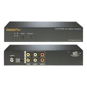 Channel Plus 5425 Digital Modulator Dual Source 2 Channel Video Audio RF Two Channel Push Button Signal Modulator CATV Channels 65 - 125 Off-Air DTV UHF Channels 14 - 64, Part # CP5425