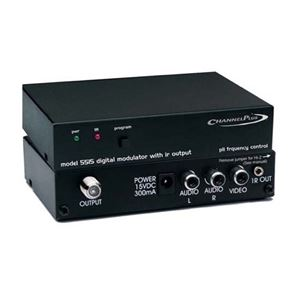 Linear 5515 Video Modulator with IR Control One Channel Single Channel Modulator Signal CATV Off-Air TV Antenna, Gold RCA Connectors, Part # CP5515