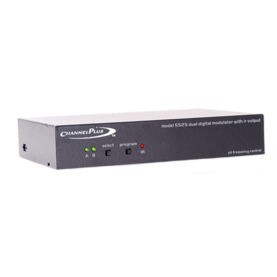 Channel Plus 5525 Dual Channel Digital Tuned A/V Modulator with IR Linear Open House Converts Baseband Signal to Selectable UHF CATV Distribution 25 dB Gain Off-Air TV Antenna with IR Emitter, Part # CP5525 | Open Box Item