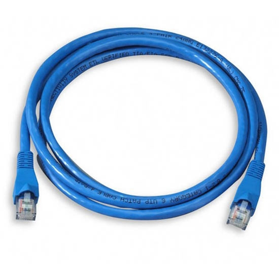 Steren Fast Media 308-907BL 7' FT CAT6 Patch Cord 24 AWG Copper Cable UTP Blue RJ45 Flush Molded Booted 550 MHz RJ-45 Network Snagless Male to Male Category 6 High Speed Ethernet Data Computer Gaming Jumper, Part # 308907-BL