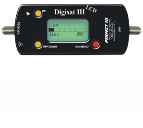 Digisat DG3 Plus 3 Satellite Signal Meter Finder Digisat III Plus Digital Satellite Meter LNB Tester Dish Signal Antenna LNBF Readout, Transmission Aiming Audio Squawker, Part # DG3PLUS