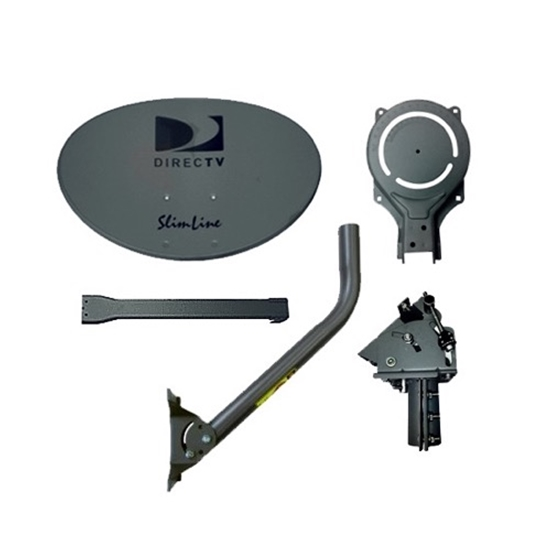 DIRECTV AU9 Slimline Dish Satellite Antenna with Feed Arm and Mount Ka/Ku SLSPF Slimline Dish Antenna Satellite Replacement  Dish with Feed Arm Mounting Assembly, Part # SLSPF