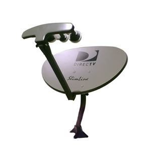 DIRECTV SL5 Slimline Dish Kit with LNB AU9S Ka / Ku HDTV Satellite Antenna Integrated MPEG-4 Multi-Sat Tuners for Local Channels with Built-In Multi-Switch, Feed Arm Mounting Assembly, AT9 Replacement