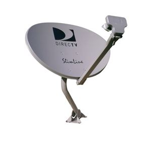 DIRECTV AU9-SL3S Slimline Dish Kit with LNB AU9S Three Ka / Ku Antenna Single Wire HDTV Satellite Integrated MPEG-4 Multi-Sat Tuners for Satellite Dish Local Channels, Feed Arm Mounting Assembly