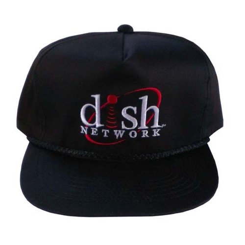 Dish Network Cap Hat Baseball Golf Hat Satellite Dish DishNet Echostar Network, Embroidered Soft Twill Black Golf Hats, One Size Fits All