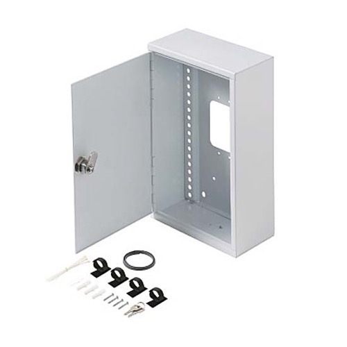 "Steren 550-100 Fast Home Surface Mount Enclosure Small 18 GA Steel 11"" Inch H x 7"" Inch W x 3 5/16"" Inch D Keyed Latch 16"" On Center White Finish FastHome Home Audio Video Module Master Hub Junction Box, Part # 550100"