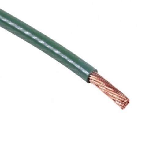 Summit 15' Ft 12 AWG Copper Ground Wire Green Solid Cable Antenna Lightning Strike Ground Protection Green Jacketed for Satellite Dish Off-Air TV Signal