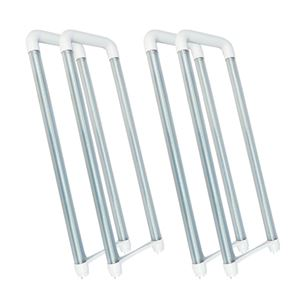 CNSUNWAY LED Tube Light Bulb T8 U Bent Bi-Pin No Ballast 4' FT Clear 20 Watt Single Row 6000K Direct Wire Bypass