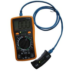Eagle Digital Multimeter Cable Tester LCD Deluxe for Electrical Line / Electronic Computer Circuit Board Testing, Network Testing, Easy to Operate Large LCD Display, Part # CMT2D