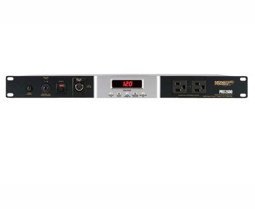 Monster Cable MPP 2600 HC Rack Pro Power Center Conditioner PowerCenter Surge Protector Console, Stage 2 V.2.1 Tri-Mode 10 Outlet 2775 Joules Mountable Suppressor with Clean Power, Part # PRO2600