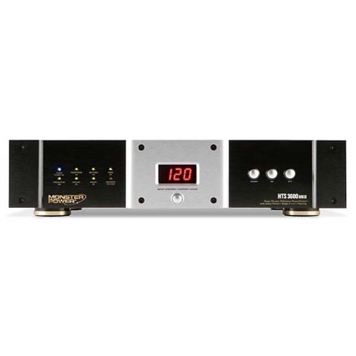 Monster Home Theater Reference PowerCenter HTS3600 MKll Surge From Monster Cable Products Rack Mountable MP HTS 3600 MKII Clean Power Center Conditioner Surge Protector, Stage 3 Tri-Mode Suppressor, Part # 109096