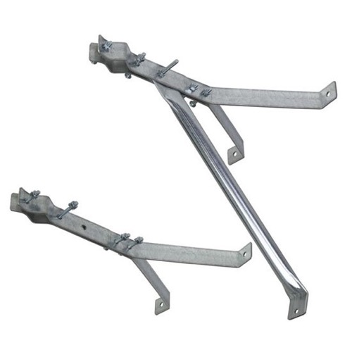 "Eagle PCT 9034 12"" Antenna Mast Wall Mount Bracket 1 Pair 9034 Heavy Duty Support CM9034 Outdoor Off-Air TV Aerial Satellite Dish Stand-Off Kit, Part # CM-9034"