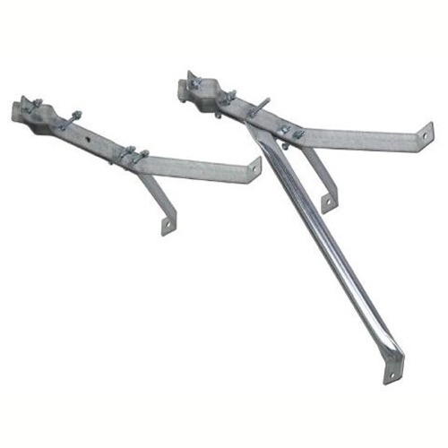 Eagle 18 Inch Wall Mount TV Antenna Mast Standoff Bracket Set of 2 Heavy Duty, Part # MT036G