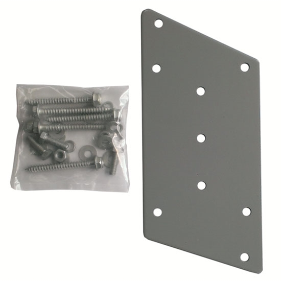 Steren 221-355 Fascia Mount Plate Satellite Dish with Hardware Dish FM-400 Kit Secure Wall Bracket DIRECTV Dish Network