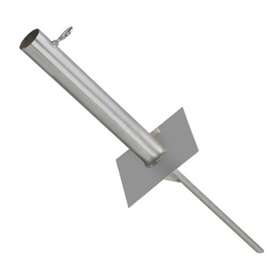 "Eagle EZ TS-60 Free Standing Antenna Mast Ground Mount Masts Up To 2-3/4"" Inch 18"" Inch 3/4 Rod Welded 9x9 inch Plate"