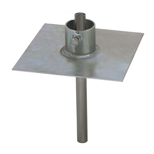 Eagle EZ32A Telescoping Antenna Mast Ground Base Plate Mount Heavy Duty up to 2-1/4 Mast 9x9 Plate, 11 Gauge