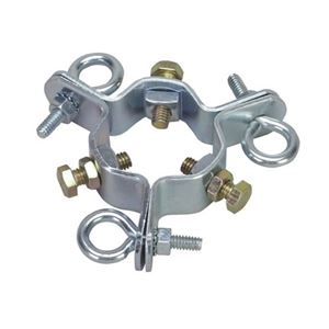 "Eagle EZ 43A 3 Way Guy Wire Clamp up to 2"" Mast with 3 Screw Eye Bolts"
