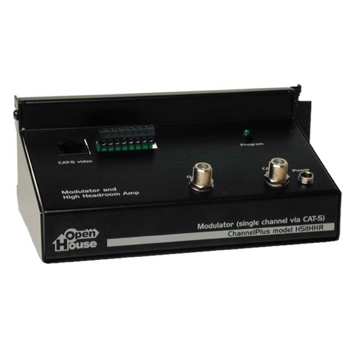 Open House H511HHR Channel Plus Linear Video Amplifier Combiner Modulator High Headroom Antenna Video Module Signal Modulator Off-Air Aerial Distribution Systems, Part # H838-HHR | Open Box Item