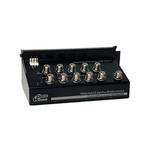 Linear Open House H838HHR Video Distribution Amplifier 8-Way Hub High Headroom Antenna Video Hub Module Signal Modulator Off-Air Aerial DistributionSystems 5 Volt IR, Part # H838-HHR