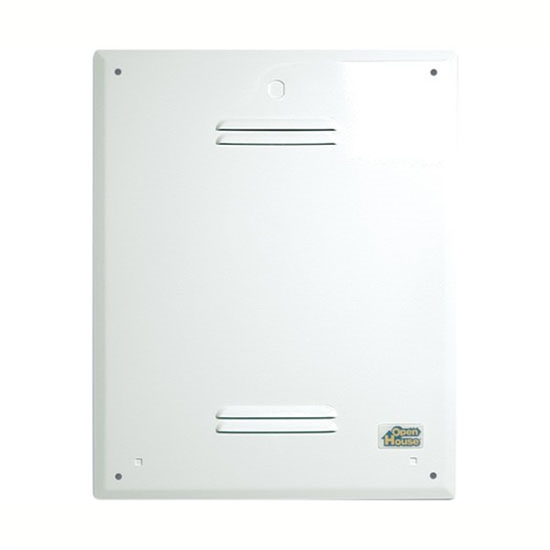 "Open House HC18A 18"" Inch Enclosure Cover Steel Painted White Snap-On Locking Screw Fits H318 and H218 Home Video Hub Master Junction Box Cover for Home AV Telephone Data Distribution Systems, Part # HC18A"