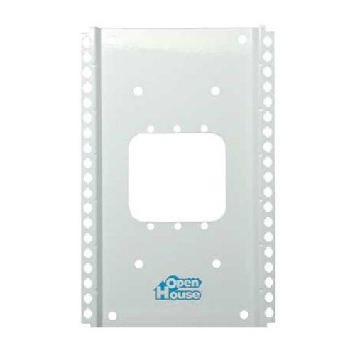 "Channel Plus H200 Single Gang Enclosure 10"" Mounting Grid Bracket for Single Width Structured Wiring Modules Home Junction Box Cover Mounting Wall Bracket, Part # H-200"