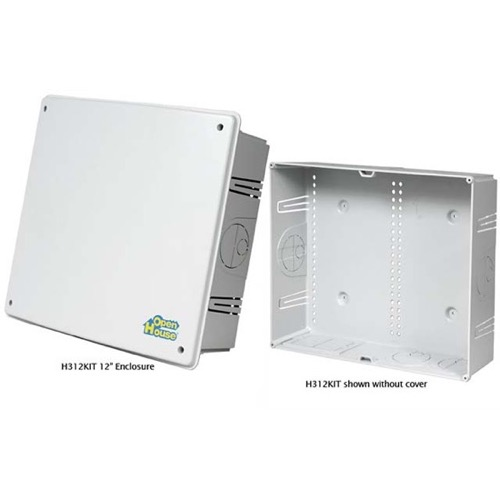 "Open House H312KIT 12"" Inch Enclosure 12 High 19 Grid Structured Wiring Plastic Box Includes Cover Face Plate Fit Into Standard Stud Home Video Hub Master Junction Box for Home AV Distribution Systems, Part # H312-KIT"