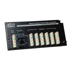 Open House H616 4x6 Telephone Master Hub Phone Data Line Distribution Module RJ-45 Expansion, Linear RJ-31X Security System Connection with 110 Punch Down Connectors, Part # H616