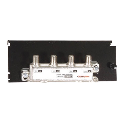 Channel Plus H803 3-Way Splitter / Combiner Hub CATV Antenna HDTV Grid Mounted Distribution Hub, Distributes Signals to 3 Locations with its High Quality On-Board Splitter, Part # H-803